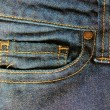 Blue denim jeans pocket detail — Stock Photo