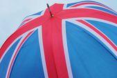 Union jack flag umbrella — Stock Photo