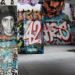 Abstract graffiti background at skate park London — Stock Photo #29794521