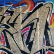 Abstract graffiti background at skate park London — Stock Photo
