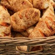 Basket of fresh basket bread — Stock Photo
