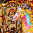 Vintage carousel merry-go-round painted horses - Stock Photo — Stock Photo #37239511