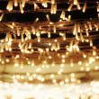 Stock Photo: Christmas lights abstract