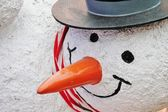 Christmas snowman model — Stock fotografie