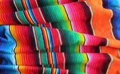 Fiesta Traditional Mexican handwoven rug poncho from mexico — Stock Photo
