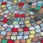 Mosaic tiles in circles — Stock Photo #38122575