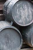 Wooden wine casks — Stock Photo