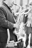Saxophone player — Stock Photo