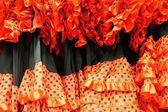 Flamenko elbiseler — Stok fotoğraf
