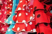 Flamenco dresses — Stock Photo