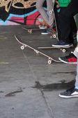 Skater and skateboard — Stock Photo