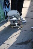 Skateboard in skate park — Stock Photo