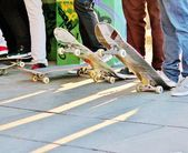 Skateboard at skate park — Stockfoto