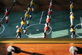 Soccer Brazil Tabletop Foosball football — Stock Photo