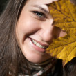 Smilling autumn girl — Stock Photo #27785619