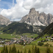 Lanscape of Corvara — Stock Photo