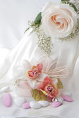 Favores do casamento e o anel de casamento — Foto Stock