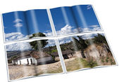 Book of Old farm village in the Andean highlands — Stock Photo