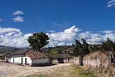 Old farm village in the Andean highlands — Stock Photo