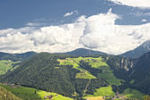 Small villages scattered in South Tyrol — Stock Photo