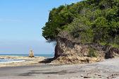 Deserted beach in a bay in Ecuador — Стоковое фото