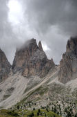 City of stones to the Sella Pass — Stock Photo