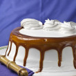 Cream cake with caramel — Stock Photo