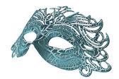 Carnival masks on black background — Stock Photo
