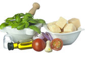 Main ingredients of Mediterranean cuisine — Stock Photo