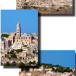Collage of  the Sassi of Matera — Stock Photo