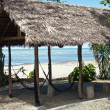 Stock Photo: Hut on deserted beach