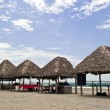 Huts on the  beach in Monpiche — Stock Photo