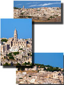 Collage of the Sassi of Matera — Foto Stock