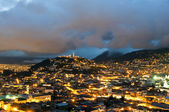 Night in the city of Quito — Stock Photo