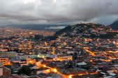 Sunset over the city of Quito — Stock Photo
