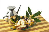 Appetizer of octopus — Stock Photo