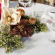 Stock Photo: Table set for holiday season