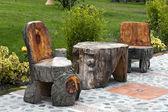 花园桌子和椅子 — 图库照片