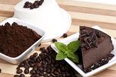 Coffee cheesecake — Stock Photo