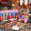 Stock Photo: Colorful indigenous market of Otavalo