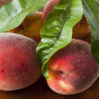 Biological peaches — Stock Photo