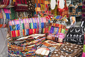 Colorful indigenous market of Otavalo — Stock Photo