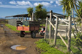 Small tractor in the farm — Stock Photo
