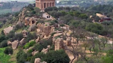 Valley of the Temple, Agrigento, Sicily, Italy — Stok video