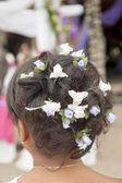Peinado de la dama de honor en una boda — Foto de Stock