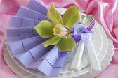 Elegant origami napkins  — Stock Photo