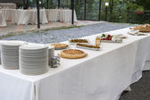 Catering buffet Tercesi castle — Stock Photo