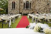 Adventist outdoor wedding — Stock Photo