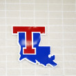Louisiana Tech Logo on Argent Pavillion Wall — Stock Photo