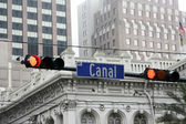 Canal Street Stoplight — Stock Photo